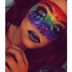 rainbow makeup - IG: beauty.x.jenna