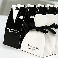 Personalized Tux and Gown Favor Boxes (Set of 25)