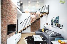 #essa#salonzantresolą#livingroom#interiordesign#architektwnętrz#salon#salonzcegłą#essaarchitektura Beautiful Homes, Stairs, Home Decor, Living Room, House Of Beauty, Stairway, Decoration Home, Room Decor, Staircases