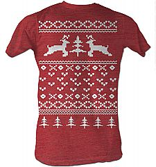 Ugly Christmas Sweater Tee Red