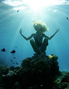Underwater Mermaid Yoga, who's in? #LoveSurf #goals #yoga #workout #inspiration