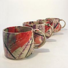 If you are looking for a cheap and creative way to add color and life into your interior, then look no further than ceramic plates. Rather than turning to expensive art pieces and portraits, you ca… Stoneware Mugs, Ceramic Plates, Earthenware, Pottery Mugs, Ceramic Pottery, Pottery Art, Ceramic Tools, Ceramic Artists, Expensive Art