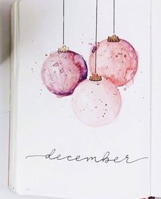 20 Mind Blowing Watercolor Bullet Journals (With Tips!) - Conquering Chaos - Danielle - 20 Mind Blowing Watercolor Bullet Journals (With Tips!) - Conquering Chaos 20 Mind Blowing Watercolor Bullet Journals (With Tips! Painted Christmas Cards, Watercolor Christmas Cards, Christmas Drawing, Diy Christmas Cards, Christmas Paintings, Watercolor Cards, Xmas Cards, Christmas Art, Tattoo Watercolor