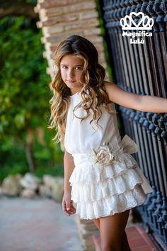 #vestido #volantes #ceremonia #empolvado