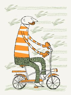 Hipster bike by Mark McDevitt (Methane Studios) - Bicycle Art - Gallery Hipster Bike, Mobiles, Bike Illustration, Illustration Styles, Bicycle Art, Illustrations And Posters, Art Posters, Just In Case, Art Prints