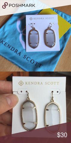 Kendra Scott Danielle goldtone slate earrings Danielle earrings by Kendra Scott.  Gold tone. Color of stone is called slate. Kendra Scott Jewelry Earrings