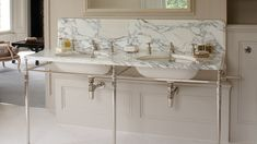 marble+sinks | double marble sink basin
