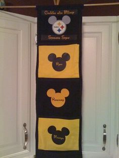 Pittsburgh Steelers inspired Fish Extender I made for our Disney Cruise in 2009.  It makes a reappearance in November 2013.