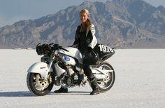 Speed record holder: Leslie Porterfield hosts LA Calendar Motorcycle Show