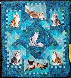 Impressive Cat Quilt