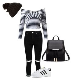 """""""Untitled #30"""" by faseeha-noor ❤ liked on Polyvore featuring Boohoo, adidas and Emanuel Geraldo"""