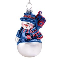CHICAGO CUBS MASCOT ORNAMENT EVERGREEN NEW IN PLASTIC CASING RESIN