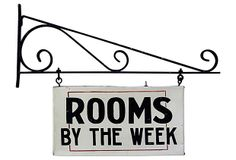 Rooms by the Week Sign on OneKingsLane.com