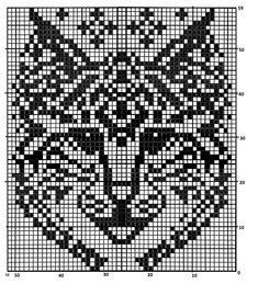 """Жаккардовый рисунок """"Рысь"""" или """"Кошка"""". """"Нарисовала"""" схему на компьютере сама с маленькой и очень некачественной схемки из интернета. Knitted Mittens Pattern, Fair Isle Knitting Patterns, Knit Mittens, Knitting Charts, Alpha Patterns, Loom Patterns, Beading Patterns, Crochet Patterns, Cross Stitch Charts"""