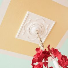 Top off any room with a decorative ceiling treatment that introduces colors and patterns to an otherwise bland surface in a weekend transformation. We refurbished an old fixture with fresh spray paint.