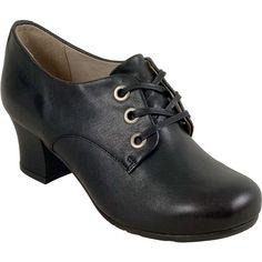 Miz Mooz Fantina Women's Pump Heel ($98) ❤ liked on Polyvore featuring shoes, pumps, black, miz mooz shoes, black oxford pumps, oxford pumps, mid-heel shoes and black mid heel shoes