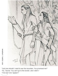 Legolas and Tauriel