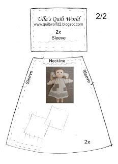 New doll pattern quilt Ideas Doll Clothes Patterns, Doll Patterns, Quilt Patterns, Softies, Dolly Doll, Quilting, Angel Crafts, Sewing Dolls, New Dolls
