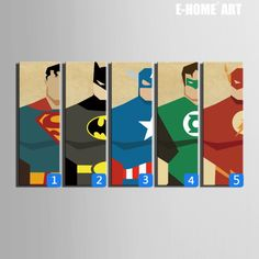 Stretched Canvas Art Super Hero Decoration Painting On Canvas