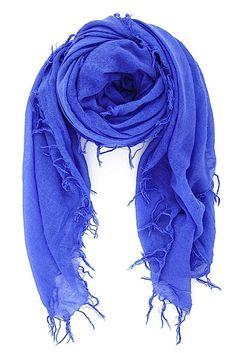 Baja Blue Cashmere & Silk Scarf