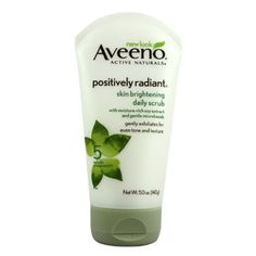 Aveeno Positively Radiant Skin Brightening Daily Scrub- my NEW favorite face cleanser!! (Okay, I admit that I bought it solely b/c in this month's Glamour mag, Jennifer Aniston admits to using this every day. But I really love it. And now I look just like Jennifer Aniston.)