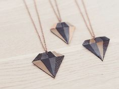 DIY-Anleitung: Kette mit Diamantenanhänger aus Leder fertigen via DaWanda.com
