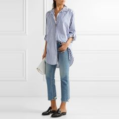 The Ten Best Boyfriend Button-Down Shirts - #7 MiH Jeans Oversize Shirt #rankandstyle