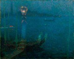 Henri Le Sidaner (French, 1862-1939), Venise au clair de la lune [Venice by moonlight], 1906. Oil on canvas, 65 x 80 cm.