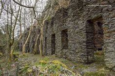 The Tholtans known as 'The Terrace' at Glen Rushen which were once miners homes © Peter Killey - www.manxscenes.com