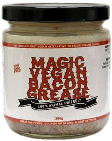 "Magic Vegan Bacon Grease – I could make my own ""bacon bits"" or flavor greens or my tofu scramble!! The reviews on this are FIVE STAR!"