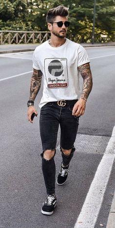 Ray ban sunglasses for men men's fashion, urban fashion, fashion outfits, fashion trends Outfits Casual, Stylish Mens Outfits, Mode Outfits, Fashion Outfits, Summer Outfits, Fashion Fashion, Fashion Trends, Fashion Moda, Fashion Vintage