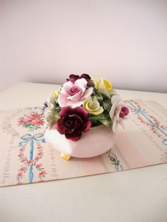 VINTAGE RADNOR POSY   Roses  Bone China  Flowers  by IWANTVINTAGE, $25.00