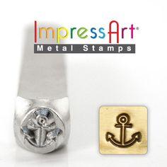 Anchor - Metal Stamp - Sale - Design Stamp 6mm - Metal Design Stamp For Hand…