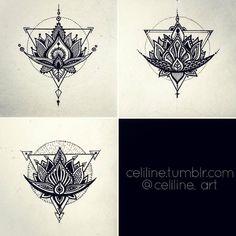 Variations of a lotus flower