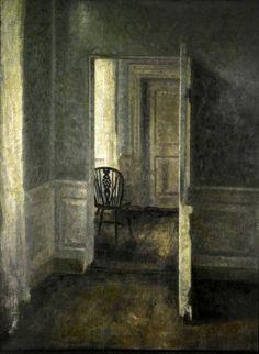 Vilhelm Hammershøi Interiør med Windsorstol