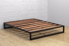 Iron Frame disassembles Solid Hardwood Bed Slats Queen: W x x H King: W x D x H Queen Spec SheetKing Spec Sheet Iron Furniture, Pallet Furniture, Rustic Furniture, Living Room Furniture, Home Furniture, Modern Furniture, Furniture Design, Furniture Ideas, Furniture Movers