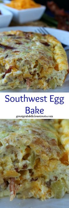 Southwest Egg Bake – Great Grub, Delicious Treats – Famous Last Words Yummy Recipes, Egg Recipes, Brunch Recipes, Low Carb Recipes, Cooking Recipes, Yummy Food, Dinner Recipes, Dinner Ideas, Quiche Recipes