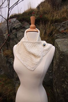 Ravelry: Buttoned Silk Collar (machine knit) pattern by Betty Nolan