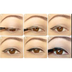 Demonstration on how to do cool eyeliner