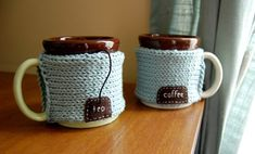 knitted cozies ~ so cute!