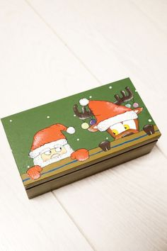 Unique Christmas gifts for children, Christmas Stocking stuffers for kids, Christmas gifts for kids Christmas box, Hand painted box child  #christmas #gifts #children #kids #santaclaus #box #child #funny #fun