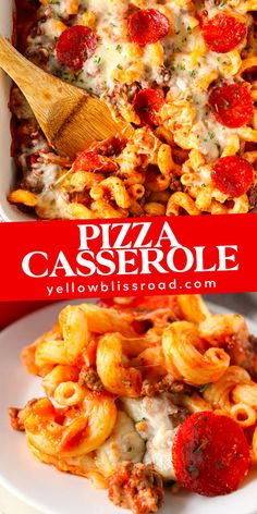 Learn how to make Pizza Casserole that is easy to customize with your favorite toppings! Just a few simple ingredients, like pasta, sauce, meat and cheese! Pizza Casserole, Casserole Dishes, Casserole Recipes, Beef Recipes, Cooking Recipes, Pizza Recipes, Shrimp Recipes, Italian Recipes, Easy Recipes
