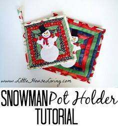 Perfect little homemade Christmas gift! Snowman Pot Holder Sewing Pattern is simple and so fun to make!