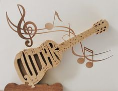 Acoustic Guitar Puzzle Cut On Scroll Saw by DukesScrollSaw on Etsy