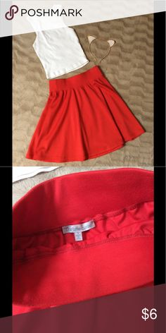 Charlotte Russe Red Skater Skirt Red skirt size small. Worn only a few times. Perfect with a crop top or a shirt tucked in! Any questions feel free to ask 😊 Charlotte Russe Skirts Circle & Skater