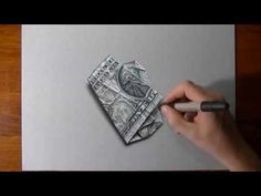 """I can smell the money""- Hyperrealistic drawing High School Drawing, High School Art, Middle School Art, Drawing Lessons, Art Lessons, 3d Illusion Drawing, Hyperrealistic Drawing, School Art Projects, 3d Drawings"