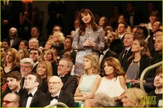 "Sarah Palin SNL 40 | Full Sized Photo of Taylor Swift Sarah Palin sit together at SNL 40. Also visible, Steven Spielberg, Kate Capshaw, George Lucas, Natalie Portman & standing is the Actress from ""50 Shades of Gray."""