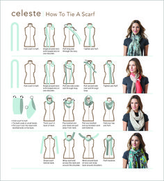 Time to stay warm and look good! Here's a little help — our scarf tying instruction guide from a recently completed packaging project.
