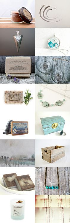 Earthy and Natural by VintageLinens on Etsy