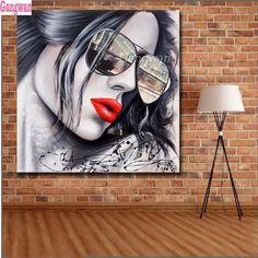 diy diamond painting Fashion red lips eyes girl full square/round diamond embroidery drill mosaic cross stitch diamond woman art